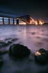 Forth Rail Bridge At Night - Edinburgh